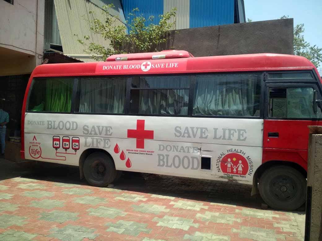 Blood donation van